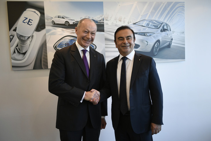 Thierry Bolloré et Carlos Ghosn